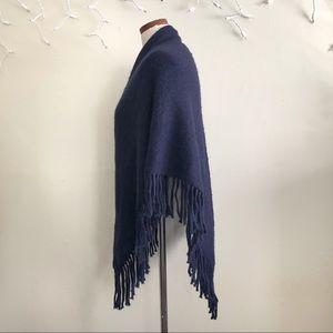 Anthropologie Accessories - Anthropologie Sunday Navy Blue triangular scarf OS